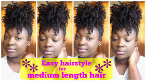 easy hairstyles for wavy medium length hair easy hairstyle for medium length natural hair youtube