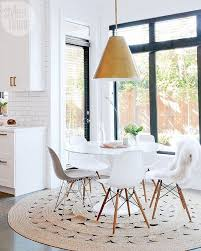 dining table with rug underneath how to choose the best rug inspired to style