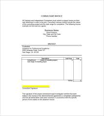 Sle Invoice For Independent Contractor by Sle Invoice 7 Proforma Invoice Templates Free