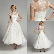 t length wedding dresses ivory lace tea length wedding dresses sheer backless