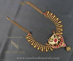 necklace pattern images Gold short necklace pattern south india jewels jpg