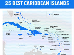 Map Of Caribbean Islands And South America by Best Caribbean Islands Chart Business Insider