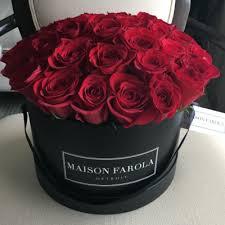 boxed roses flower shop maison farola detroit floral design