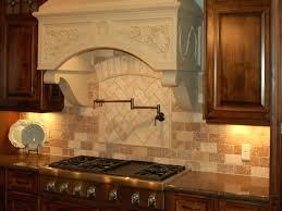 kitchen backsplash travertine tile antique kitchen design with old