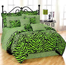 Bed In A Bag Set Twin Size Lime Green Zebra Print Bed In A Bag Set Bed Bag