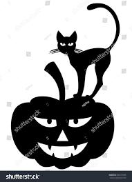 illustrations halloween silhouette black cat on stock illustration