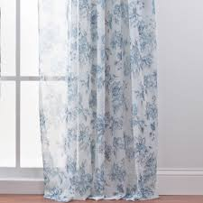 Blue And White Floral Curtains Living Room Orange And Floral Pattern Sheer Curtain With