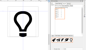 Glyph Symbol - learn to draw 2d creating symbol font in inkscape