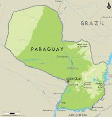Map Of France With Major Cities by Map Of Paraguay Paraguay Is A Landlocked Country Between