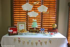 airplane baby shower decorations vintage airplane baby shower events to celebrate