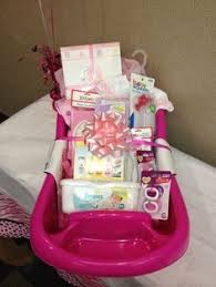baby shower gifts sweet baby shower gift the base of the tub is filled with diapers