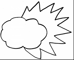 brilliant cloud outline coloring page with cloud coloring page