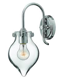 Chrome Wall Sconces Hinkley 3177cm Restoration One Light Wall Sconce From Congress