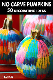 pumpkin decorating ideas with carving 50 no carve pumpkin decorating ideas for fall 2016