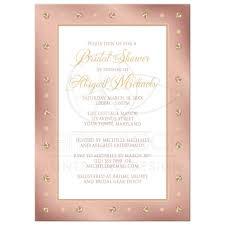 wedding invitations rose shower invitations elegant border rose gold