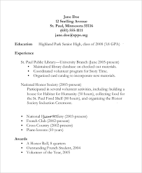 Babysitting Resume Example Of High Student Resume Resume Example And Free