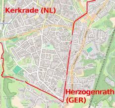 kerkrade netherlands map the german border goes through the kerkrade