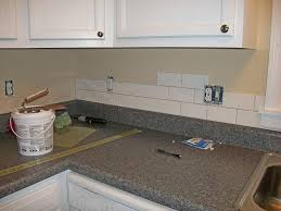 Diy Tile Backsplash Kitchen  Decor Trends  DIY Tile Backsplash Idea - Tile backsplash diy