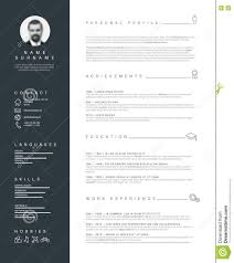 free minimalist resume designs minimalist resume cv template with nice typography stock vector