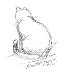 daily sketch reprise looking out the window 2012 the creative cat