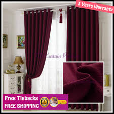 Sheer Maroon Curtains Blockout Green Coffee Beige Brown Maroon Fabric Curtain Drapes