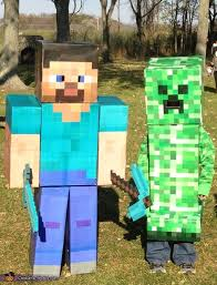 minecraft costumes minecraft steve and creeper costumes