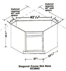 corner kitchen sink cabinet plans diagonal corner sink base cabinet unfinished poplar shaker style 42