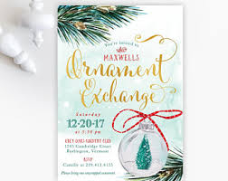 Christmas Ornament Party Invitations - christmas party invitations holiday party invite ornament