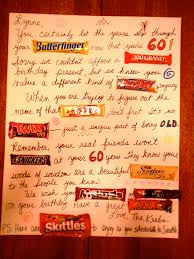 Birthday Card With Bars Candy Bar Greeting Card Our Friend Turned 60 And We Creat Flickr