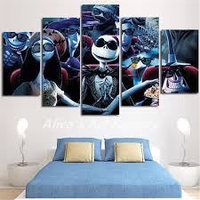 5piece wall calligraphy nightmare before painting