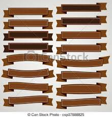 brown ribbon vintage brown ribbon banner vector vector illustration search