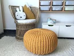 cable knit pouf ottoman tag knit pouf ottoman