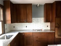 what color backsplash with white quartz countertops st paul kitchen remodel quartz countertops subway tile