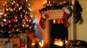 buy beautiful video merry christmas xmas fireplace and garland