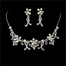 freshwater pearl necklace set images Bridal necklace earrings swarovski freshwater pearl jewelry set jpg