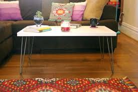 hairpin leg coffee table round hairpin leg table diy tufcogreatlakes com