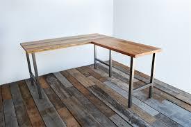 Plank Desk Wooden L Shaped Desk Design U2014 Desk Design Desk Design