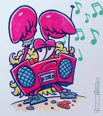 cartoon boombox crab character illustration freelance fridge