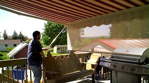 How To Clean A Sunsetter Awning Retractable Awning With Drop Shade Youtube