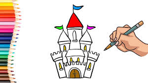drawing and coloring castle for kids coloring books learn