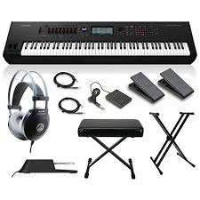 Keyboard Stand And Bench Yamaha Montage 8 88 Key Synthesizer With Stand Pedals Deluxe