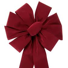 big burgundy velvet bows large burgundy velvet bow