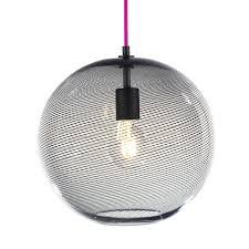 Sphere Pendant Light Cane Globe Pendant Light Keep Hand Blown Glass Lighting