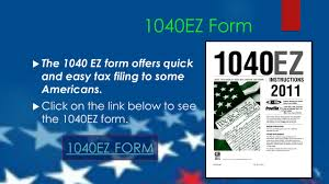 Irs Tax Estimate Forms by Taxes For The Irs 1040ez Form Ppt