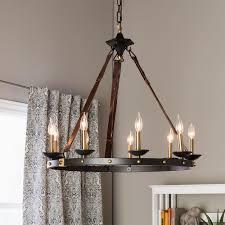 lodge chandelier cavalier 9 light black chandelier black metal for the home