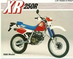 honda motocross bike honda xr250r 86 honda xr 250 pinterest honda and cars