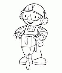 bob builder coloring pages free download printable bob