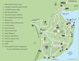 Canada National Parks Map by Experience Waterton Lakes National Park Experienceexperience