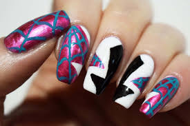 plus10kapow spider gwen nails