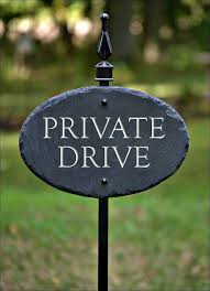 carved private drive slate w lawn stake sign by theslatemasons